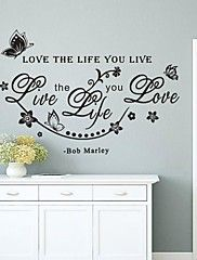 Wall Stickers Wall Decals,English Words & Quote... – AUD $ 8.57