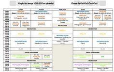 Emploi du temps et programmations en CE1-CE2-CM1-CM2 - Christall'Ecole Un travail énorme !!!