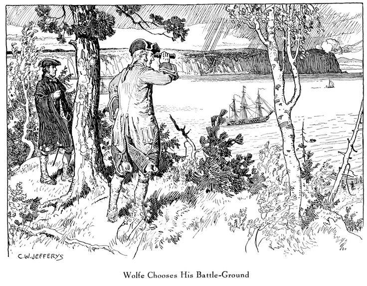 """Wolfe Chooses His Battleground,"" Charles William Jefferys"