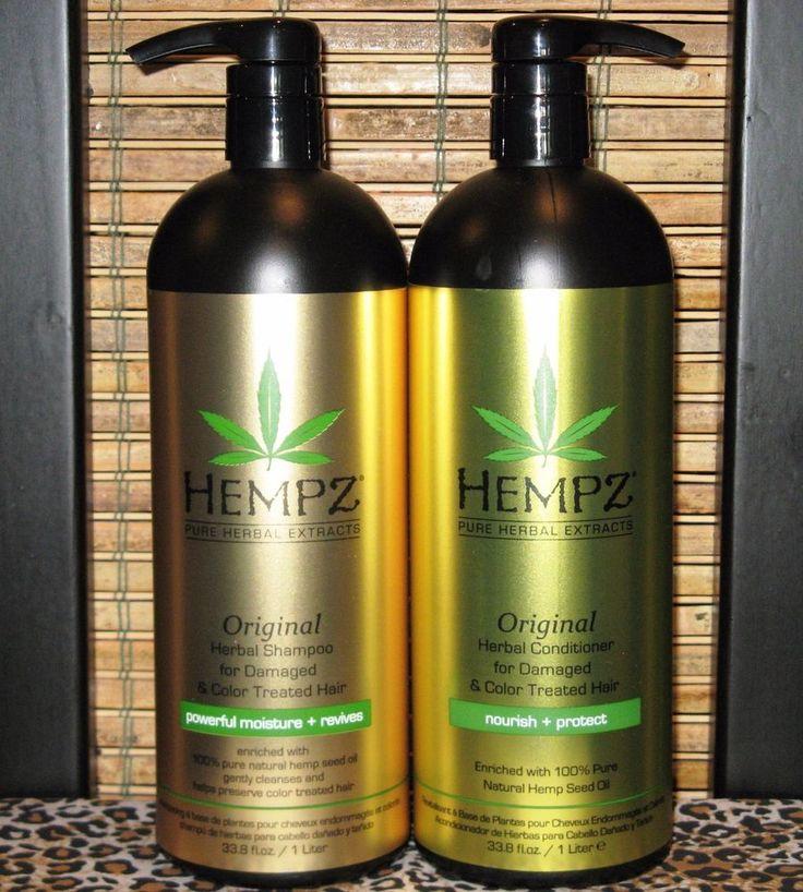 Hempz Original Shampoo Conditioner for Damaged Hair 33.8 oz Liter Set with pumps #Hempz #ShampooConditionerSets