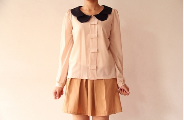 Collar Layered Front Blouse