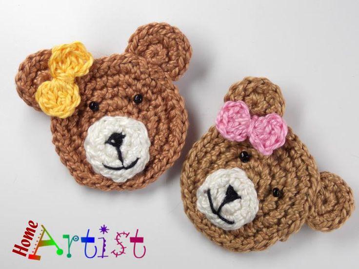 Crochet patches – Crochet Applique Embellishments – a unique product by Home…