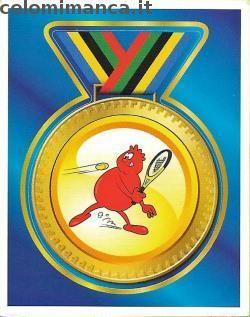 Il Corpo Umano Sport e Movimento: Fronte Figurina n. 148 Tennis