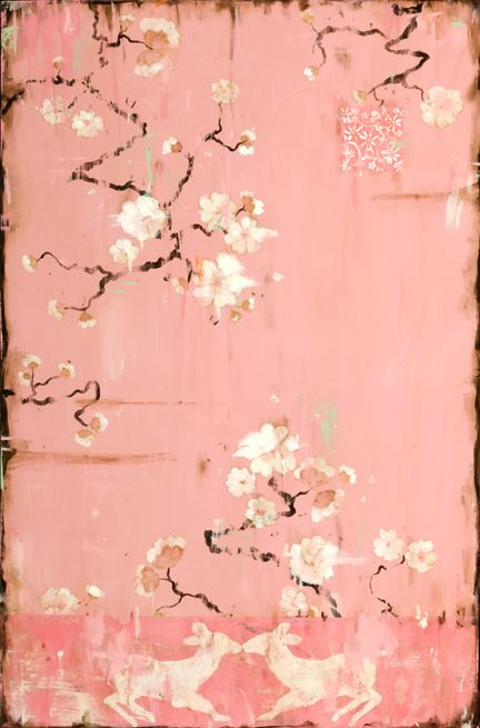"www.kathefraga.com Paintings by artist Kathe Fraga inspired by vintage France and the beauty of age old chinoiserie. ""The French Wallpaper Series"" copyright 2014"