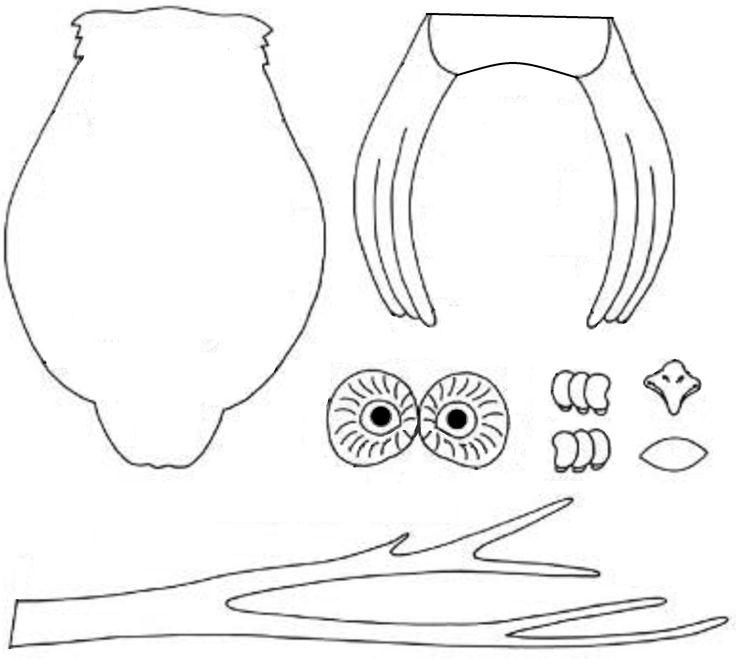 Bastelbogen für eine Eule - Owl crafts