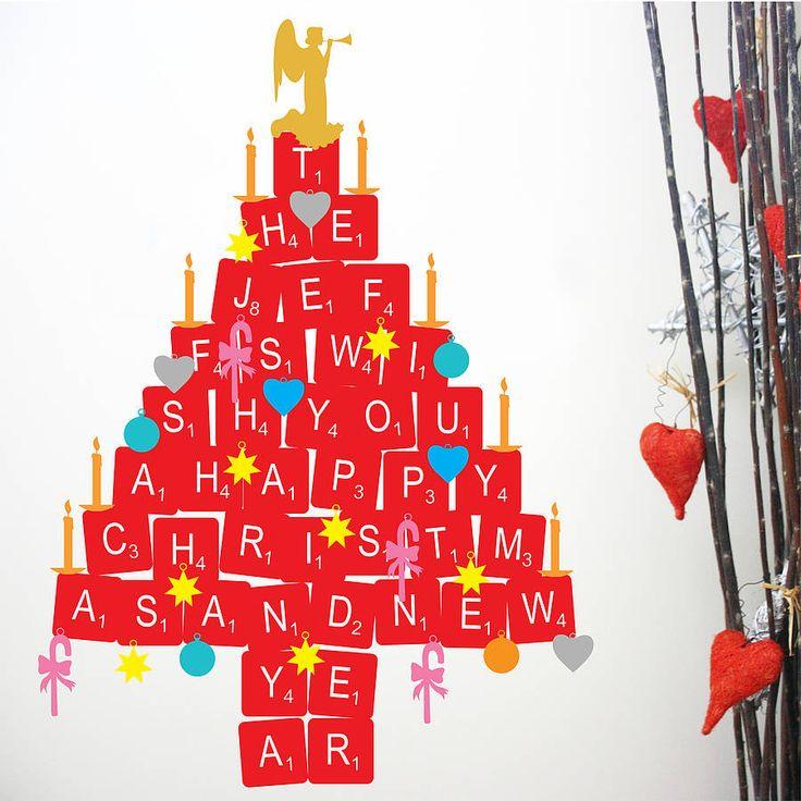Brief-Weihnachtsbaum-Aufkleber