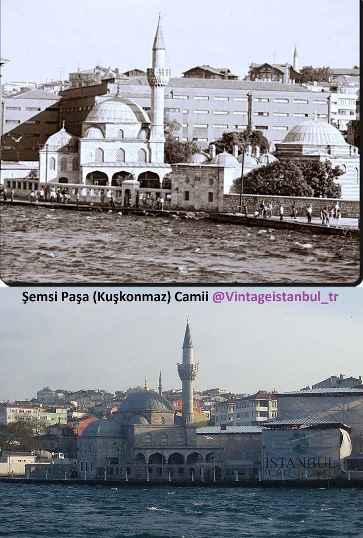 Şemsi Paşa (Kuşkonmaz) Camii The Şemsi Pasha Mosque (Turkish: Şemsi Paşa Camii, also spelled Chamsi-Pasha) is an Ottoman mosque located in the large and densely populated district of Üsküdar, in Istanbul, Turkey.@Vintageistanbul_tr  #istanbul #life #hayat #birzamanlar #istanlook #nostalji #Türkiye #Turkey #turkishfollowers #instaturk #turkeystagram #turkinstagram #istanlook #vintageistanbul #eskiistanbul #oldpics #instacool #instapicture #oldphoto #instapic