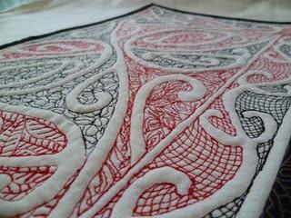 Maori design on quilt