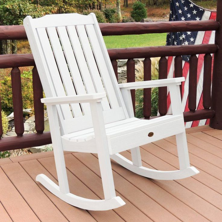Outdoor highwood Lehigh Recycled Plastic Rocking Chair - AD-RKCH1-WHE