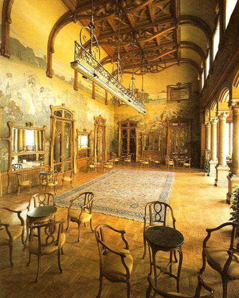 marinni: Ettore De Maria Bergler. Росписи Villa Igieа.