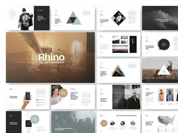 Rhino Keynote Presentation Template by GoaShape on @creativemarket