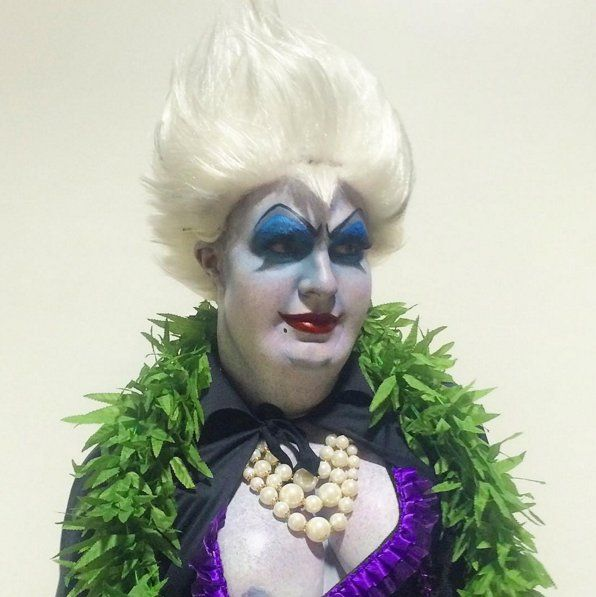 Pin for Later: This Year's Best Halloween Costumes From Hollywood Heartthrobs Colton Haynes as Ursula