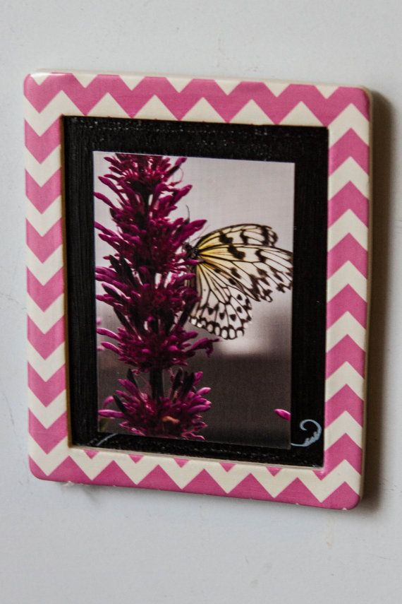 Magnetic Frame with butterfly photo by NaturisticImages on Etsy