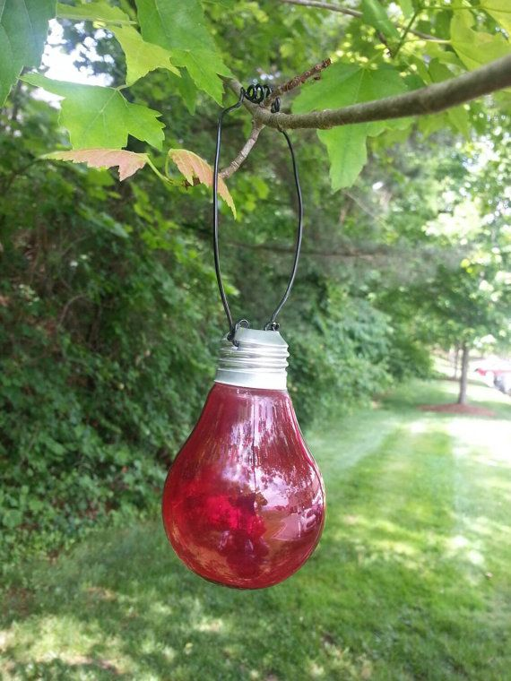 Upcycled Light Bulb Vase Hanging Light Bulb Vase by FunEclecticHF