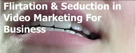 Flirtation and seduction in video marketing for business.     Read the blog here: http://www.lovablsocialmedia.com.au/flirtation-seduction-in-video-marketing-for-business/#    #videomarketing #youtube #socialmedia #social