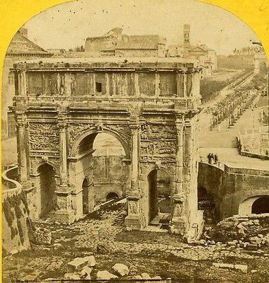 Arc-de-Septime-Severe-Rome-Roma-Date: 1860-80