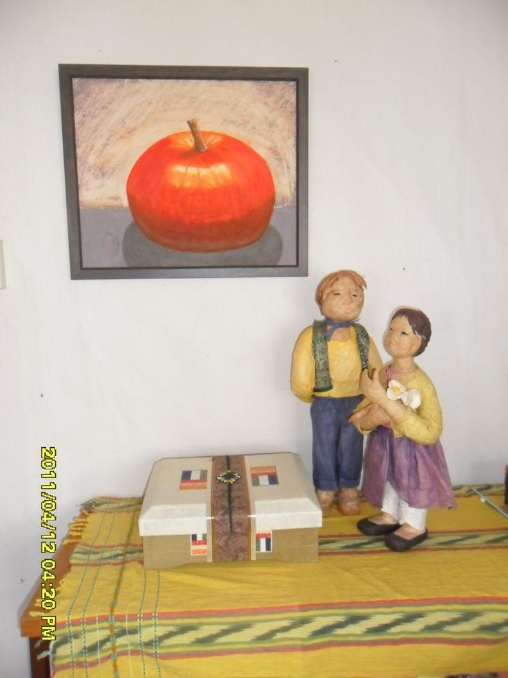 Irene's pumpkin pic, 2010 and my Korean Paper Dolls, 2006