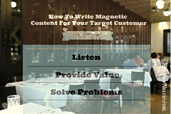 How to write magnetic content for your target market, and how to make sure you keep your promises to generate repeat business.