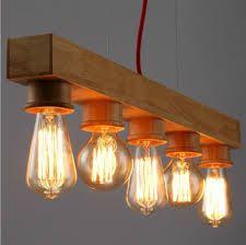 Afbeeldingsresultaat voor houten hanglamp