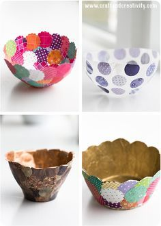 {DIY Paper bowls with Scrap Paper} -by Craft & Creativity
