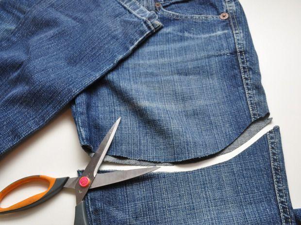cortar calça e transformar em um short