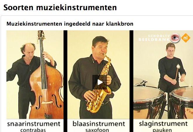 Muziekinstrumenten ingedeeld naar klankbron
