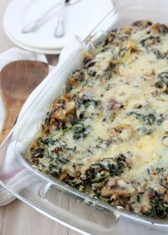 Mushroom Kale Wild Rice Casserole. If all vegetarian food tasted this good them I'd go meatless any day.