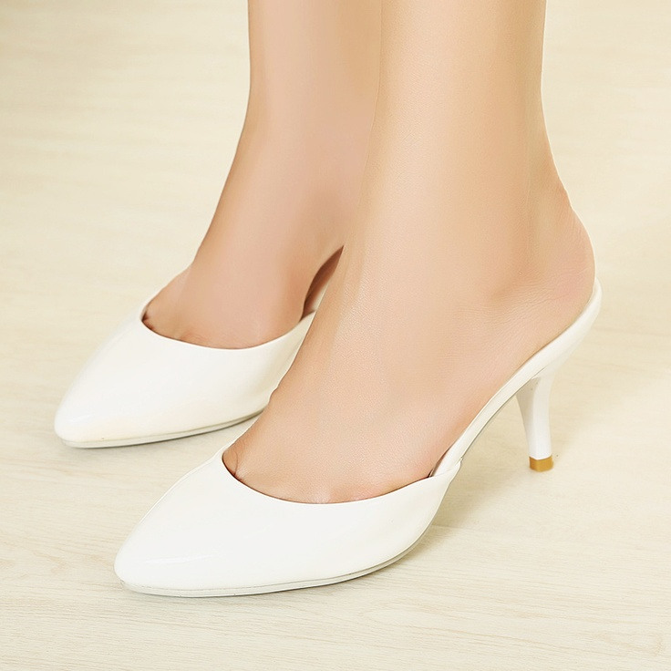 Aliexpress.com : Buy Women's shoes sweet candy color small pointed toe high  heeled slippers