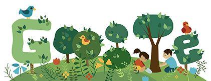 Google Doodle: Arbor Day Korea 2013
