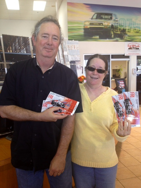 and the Winner is.... Scott Taylor! Scott just won Red McCombs Toyota's Formula One Giveaway!! Hope you have a great time Scott!  http://redmccombstoyota.com/