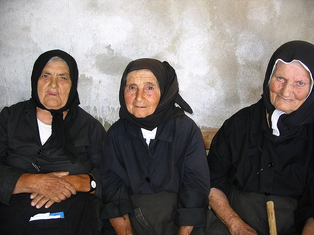 Women of Chios...they remind me of my grandmother who used to dress like these women.