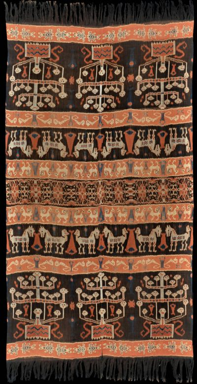 Ikat hinggi from East Sumba, Sumba, Indonesia, 1910-1930.