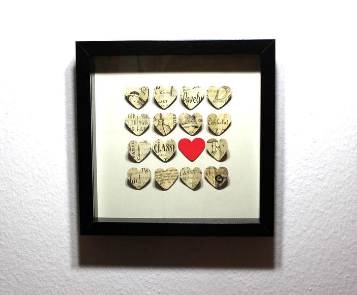 Amazing D Bild Herzen Love Fashion Wanddeko Wohnzimmer von Bellyys via dawanda