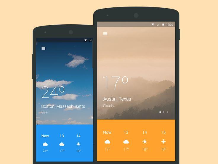 Material design weather app