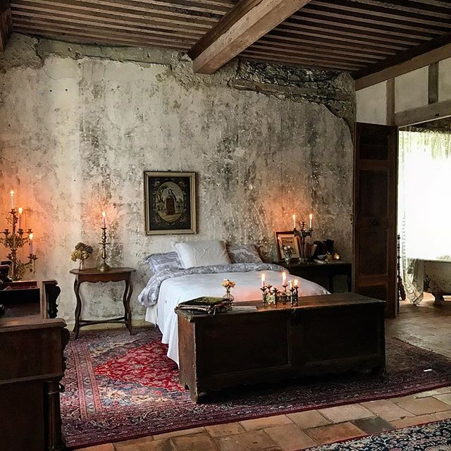 Happy After Photo In This Bedroom Where The Ceiling And Floors Had Fallen When We Purchased The Ch French Country Rug French Country House Chateau De Gudanes