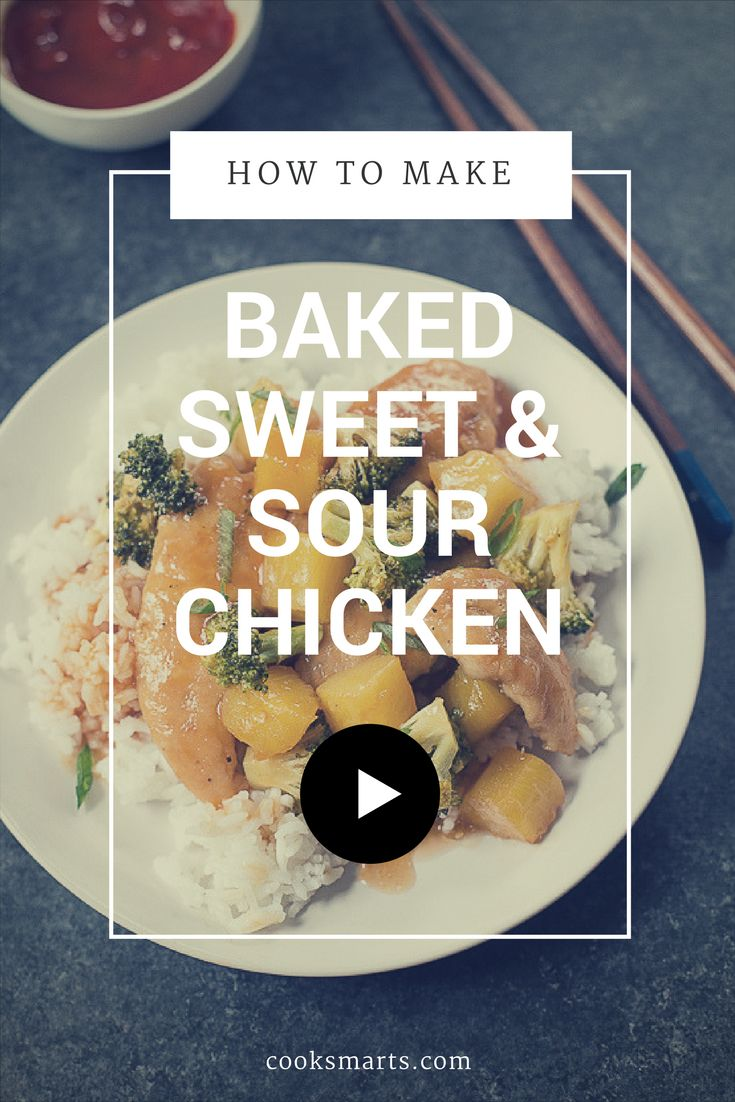 How To Make Baked Sweet & Sour Chicken Homemade Chinese Foodhealthy