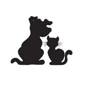 Wallsticker - Hund & Kat