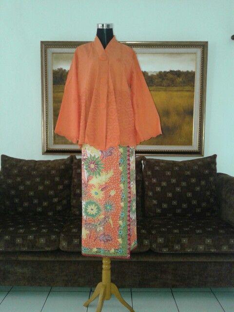 Suit cotton bordir with handmade hokokai batik