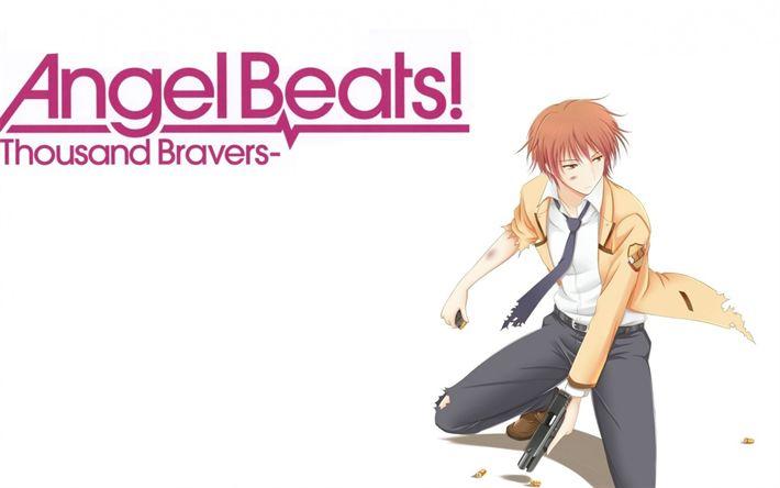 Descargar fondos de pantalla Ángel Bestia, Yuzuru Otonashi, serie de Anime, Personajes