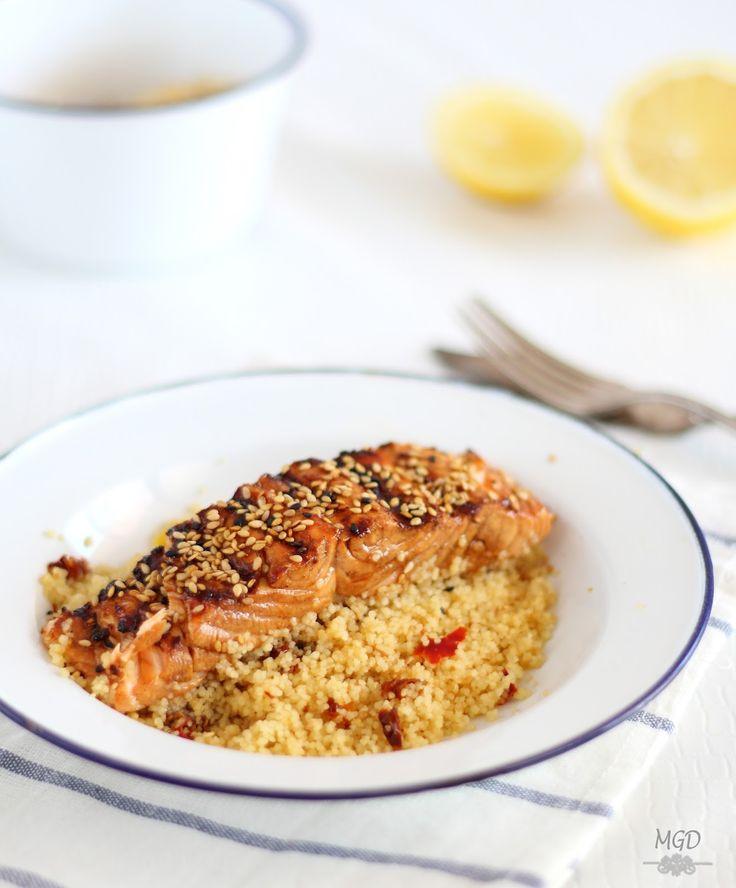 Salmon Teriyaky con couscous de verduras