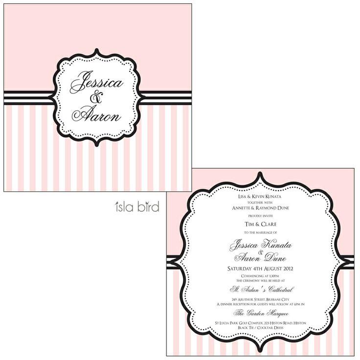 isla bird  - Pink and Black Vintage Wedding Invitation, (http://www.islabird.com/sweet-vintage-wedding-invitation/)