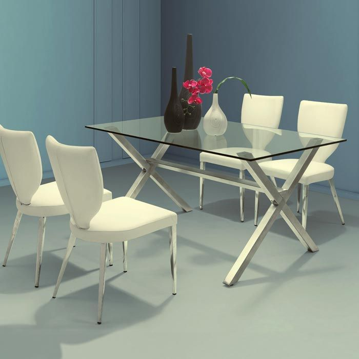 Graphite Glass Dining Table wood instead