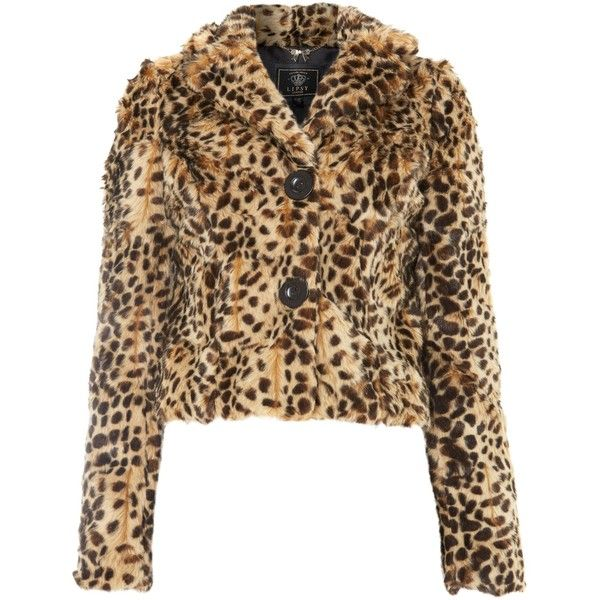 Lipsy Faux fur leopard coat found on Polyvore