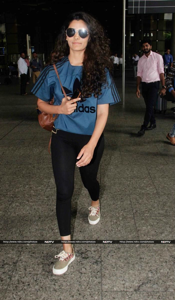 Saiyami Kher opted for a sporty look.