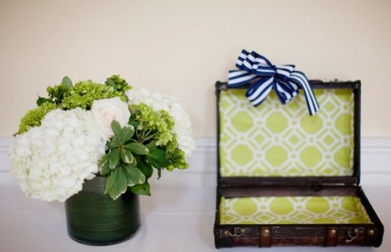 Preppy Wedding Decor 550x354 Preppy Virginia Country Club Wedding Reception: Katharine + Brad