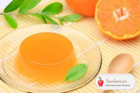 Оранжевое желе: хурма и апельсин