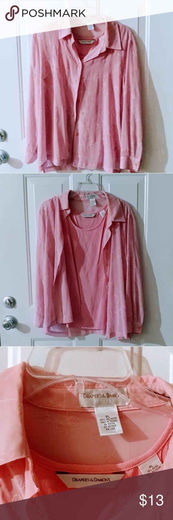 Draper's & Damon's Petite, 2 pieces Draper's & Damon's petite long sleeve shirt and sleeveless shirt. Draper's & Damon's Tops Blouses