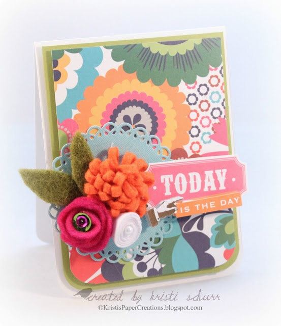 Today Is The DayMojo Boards, Cards Mojo, Flower Kristy, Paper Creations, Kristy Paper, Fusion, Felt Flower, Paper Crafts, Flower Cards