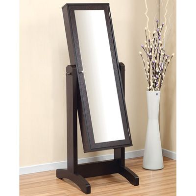 Full Body Mirror That Doubles As A Jewelry Armoire