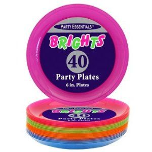 "Northwest Enterprises Hard Plastic 6"" Round Party/Dessert Plates, Assorted Neon, 40 Count by Northwest Enterprises. $11.16. Classic styling; hand washable; reusable; disposable; combine them with neon cups, cutlery and serving pieces for a knock-your-socks-off party table. Ideal for catering, food service, picnics, weddings, buffets, family reunions and everyday use. From dinnerware, cutlery and cups to serve ware, table covers and more, Northwest Enterprises has jus..."